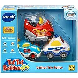 Vtech - A1303731 - Jouet De Premier Âge - Coffret Trio Police - Véhicules Tut Tut Bolide - Couleurs aléatoires