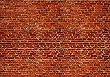 Fototapete Backstein rot Klinker 400cm Breit x 280cm Hoch Vlies Tapete Wandtapete Vliestapete Effekt Stoß auf Stoß - Modern Wanddeko, Wandbild, Fotogeschenke, Wand, Wandtapete, Dekoration, Wohnung