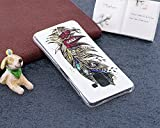 Coque Samsung Galaxy A8 2018,Surakey Nuit Luminous Effet Fluorescent TPU Housse Silicone Transparent Coque Souple Housse Étui Protection TPU Case Cover pour Samsung Galaxy A8 2018 (Plume)