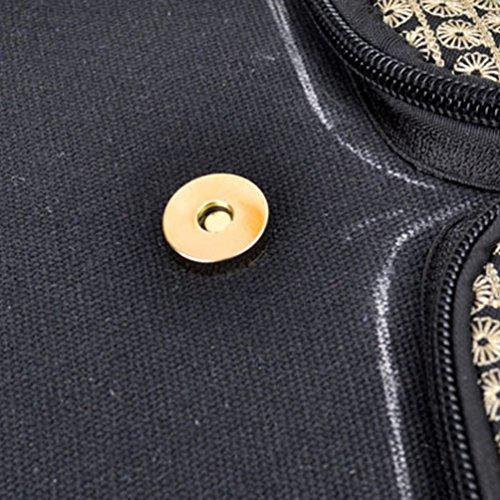 YAANCUN Donna Zaino Spalla Borsa Tela Scuola Zaino Ricami Stampa Borsa Zainetto Daypack Turismo Zaino Casual Ragazze Come l'immagine#1