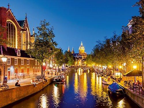 CALVENDO Puzzle Oude Kerk am Voorburgwal in der Altstadt von Amsterdam 1000 Teile Lege-Größe 64 x 48 cm Foto-Puzzle Bild von Werner Dieterich
