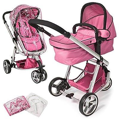 TecTake 3 en 1 Sillas de paseo coches carritos para bebes convertible - disponible en diferentes colores -