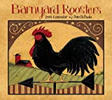 Barnyard Roosters 2016 Deluxe Wall Calendar