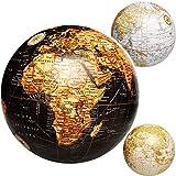 alles-meine.de GmbH 6 Stück _ Ball / Deko Kugel - Erde - Welt - Globus - 11 cm - Kontinente Länder Meer Geographie / Erdkunde - Weltkarte - Dekoration - Geldgeschenk - für Kinder..