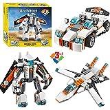 Montez Decool 237 Pcs Futuristic Robot Sports Car And Spoiler Jet Building Block Construction Set Toys