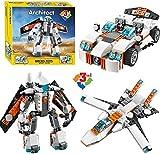 #8: Sanyal 237 Pcs 3 in 1 Futuristic Robot Sports Car and Spoiler Jet Building Block Construction Set Toys(Multicolour)