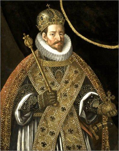Forex-Platte 100 x 120 cm: Matthias, Kaiser des Heiligen Römischen Reiches von Hans von Aachen / Everett Collection (Römische Kaiser Krone)