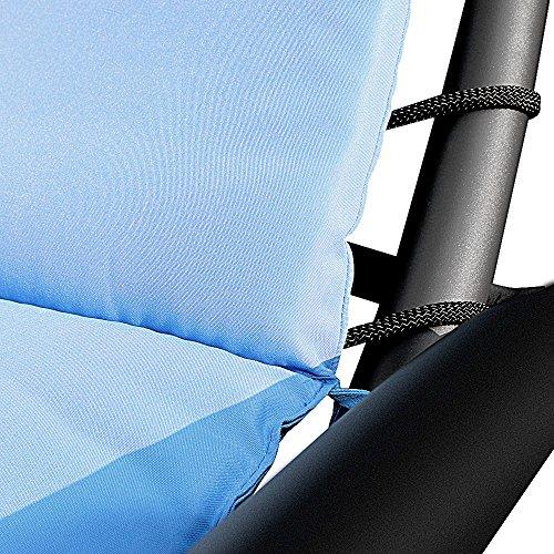 iKayaa Hammock Sun Seat Lounger - Blue