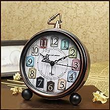 per Despertadores Retro Vintages Relojes Despertador para Mesa Metálicos Operado con Baterías Relojes para Mesa Estilo