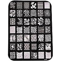 Hosaire Moda Imagen de placa de impresión estampación sellos placa manicura Nail Art decoración de uñas size Style D