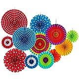 Fiesta 12hilai Papier-Dekoration für Hochzeit Geburtstag Party Fasching Karneval, Kinder-christams, zum Aufhängen, Seidenpapier, Dekoration