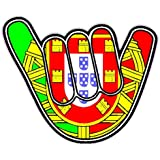 Party On Portugal Flag Voiture Autocollant / Car Sticker Sign - Decal Bumper Sign