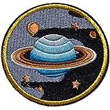 planete saturne espace ecusson Patch 7cm Écusson Thermocollants
