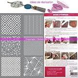 Schablone Kunststoff Siebdruck, 6Geometrische Formen für Fimo, Modelliermasse Polymer oder...