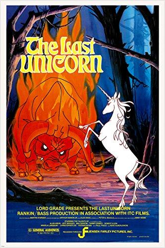 1982Animierter Kinder Fantasy Das letzte Einhorn Film Poster 24x 36Mia Farrow (Reproduktion, nicht ein Original)