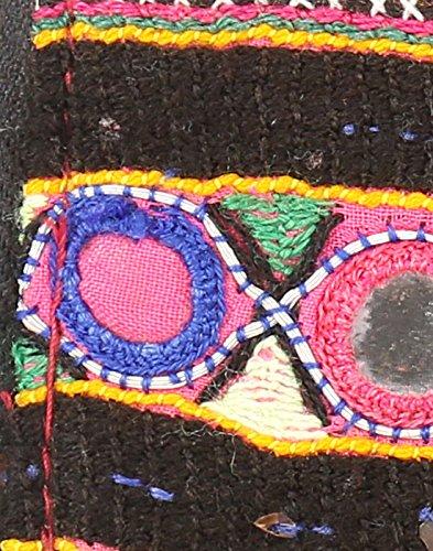 Borsa in cotone Rajrang antico Pochette vintage ricamati a mano per le donne Multi Color 02