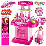 Best Barbie Kitchen Playsets - Kids Luxury Battery Operated Kitchen Play Set Toys Review