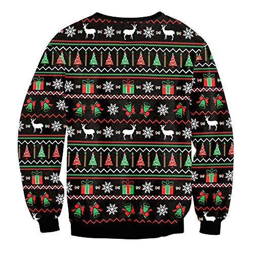 TWBB Damen Strickpullover,Winter Weihnachten Drucken Pullover Oberteile Sweatshirt Blusen Langarm-Shirt