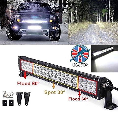 120W 53,3cm Zoll LED Arbeitsleuchten Bar Spot Flood Combo Beam Arbeit fahren Lampen für 4x 4Patrol 4WD SUV