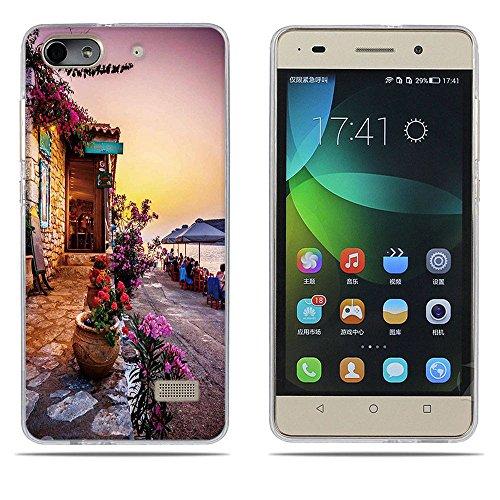 DIKAS Handyhülle für Huawei Honor 4C, Hülle für Huawei G Play Mini, TPU Softcase Silikon Tasche Anti-Scratch Telefon-Kasten Handyhülle Handycover für Huawei Honor 4C / Huawei G Play Mini- Pic: 01