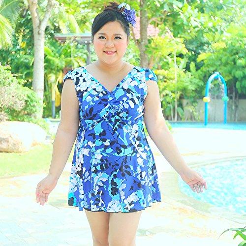 XL-übergewichtige Menschen kleiden einteilige Bikini-Badeanzug 6XL Farbe 1