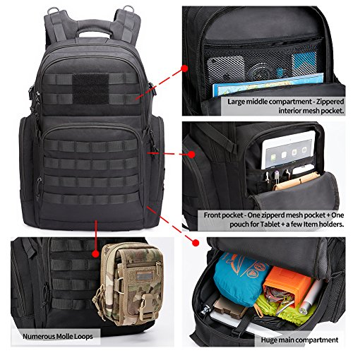 61sLaWr1nkL. SS500  - KALIDI 35L Military Tactical Backpack Rucksack with USB Charging Port for Outdoor Hiking Camping Trekking