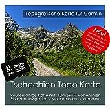 Tschechien Garmin Karte TOPO 4 GB microSD. Topografische GPS Freizeitkarte Fahrrad Wandern Touren Trekking Geocaching Outdoor. Navigationsgeräte & PC