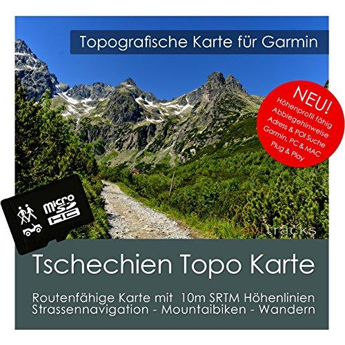 Tschechien Garmin Karte TOPO 4 GB microSD. Topografische GPS Freizeitkarte Fahrrad Wandern Touren Trekking Geocaching Outdoor. Navigationsgeräte & PC Garmin Streetpilot C580