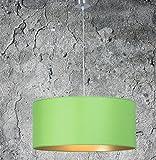 Hochwertige Hängelampe   Hängeleuchte aus Chintz Stoff   Grün Gold   XXL   Pendelleuchte   Lampe   Wohnzimmer   Esszimmer   Schlafzimmer  Ø 55cm   LED geeignet   dimmbar  