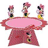 falksson Cake Stand MINNIE MOUSE von Disney // Kuchenständer Muffinständer Kuchen Muffins Cupcake Cases Kindergeburtstag Geburtstag Mädchen Deko Tischdeko Autos