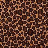 Brauner Stoff schwarzer dunkelbrauner Punkte Animalprint