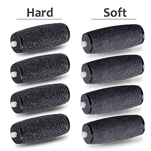 Rodillos de repuesto E-Cron compatible con Scholl Velvet Smooth Diamond Express Pedi, eliminador de asperezas duras y suaves, 8 recambrio.