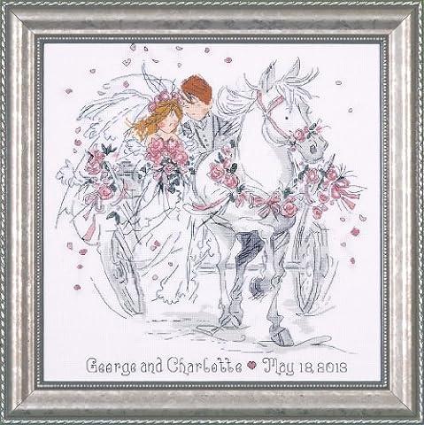 Design Works Wedding Carriage Cross Stitch Kit, Multi-Colour