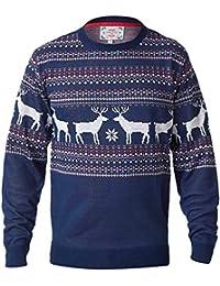 hommes noël tricot D555 DUKE Nouveauté Renne Grand King taille tricoté Pull-Over