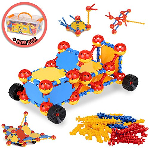 LIVEWELL KIDS Click Builders Educational STEM Toys - Construction Building Toy Set Stimulates Creative Learning - Fun Toy To Engage The Mind - STEM Toys for 3 4 5 6 7 8 9 Year Olds And Up
