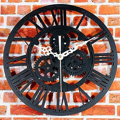 lpkone-Wanduhr, europäischen Stil mit antiken Gang Wanduhr, kreative Art und Weise das alte Verfahren Wohnzimmer zu handhaben, Uhr Grün