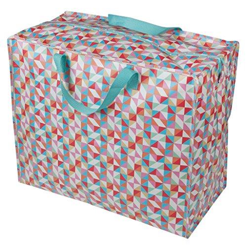 Dotcomgiftshop - Geometrische recyceltem Jumbo Wäschekorb Aufbewahrungstasche -