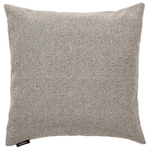 McAlister Anthrazit Grau Fischgrätenmuster Kissenbezug, Semi Uni Wolle Look strukturiert, 43cm x 43cm Herringbone Design Range (Arm-stuhl-seat-kissen)