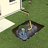Regenwasser - Rückhalte - Zisterne Flachtank Platin 7500 L GRAF