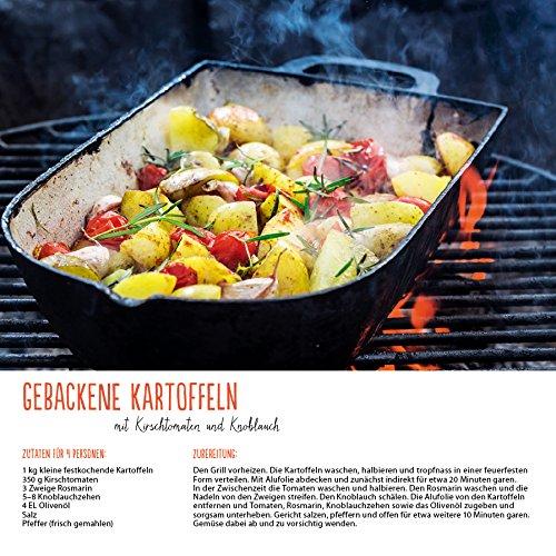 61sM7BhqDyL - Genussvoll Grillen (BK) 228119 2019: Broschürenkalender mit Ferienterminen. Jeden Monat ein neues Rezept für dwn Grill. Format: 30 x 30 cm