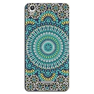 Mozine Blue Chakra Pattern printed mobile back cover for Lava Pixel 1