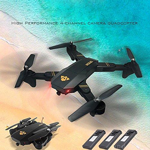 VISUO XS809HW QUINTRA RC Quadcopter Wifi FPV Faltbare Selfie Drone 2MP 3 Batterie