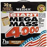 Muskelaufbaumittel - Weider Mega Mass 4000, Schoko, 7kg Dose