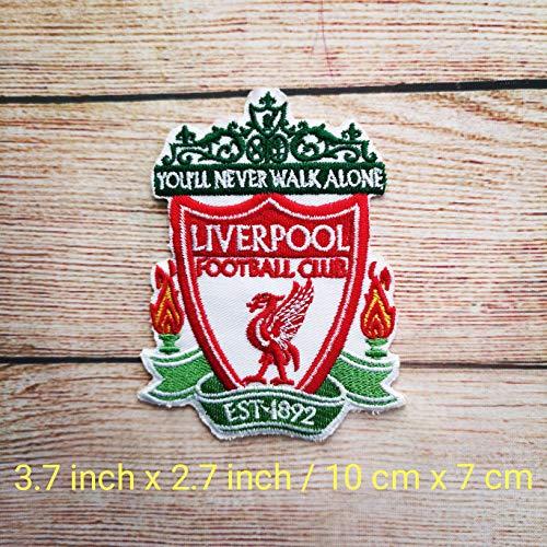 Kostüm Premier - Liverpool Fc Liga Premier League Football Club Logo Jacke T-Shirt Patch Nähen Eisen auf gesticktes Symbol Badge Tuch Zeichen Kostüm Applique Souvenir Zubehör