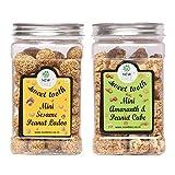 New Tree Mini Sesame Peanut Ladoo & Mini Amarnath Peanut Cube Pack Of 2 (Gajjak Wt 600gms)