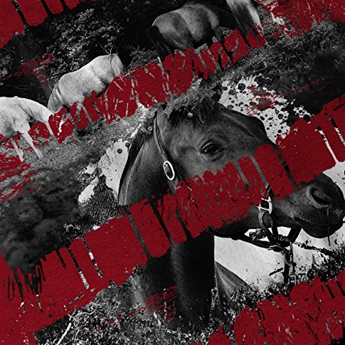 Pferd Natur Wild Tier Farbe Spritzen Damen S-2XL Muskelshirt   Wellcoda Rot