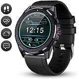 GOKOO Smartwatch Orologio Uomo Fitness Tracker Cardiofrequenzimetro IP68 Impermeabile Orologio Fitness Activity Tracker Touch