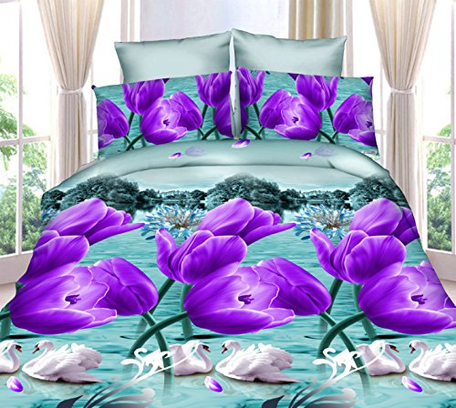 Dexim 3D Print Double Bed Sheet with Two Pillow Cover Set  available at amazon for Rs.849