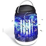 LETOUR Linterna de camping para asesino de mosquitos, 3 en 1, linterna de camping solar y USB, lámpara de asesino de mosquito