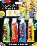 Magic Plastic Grün, Rot, Blau & Gelb - Weiderverschließbar Ballon Kit Rohr 30g (4er packung)